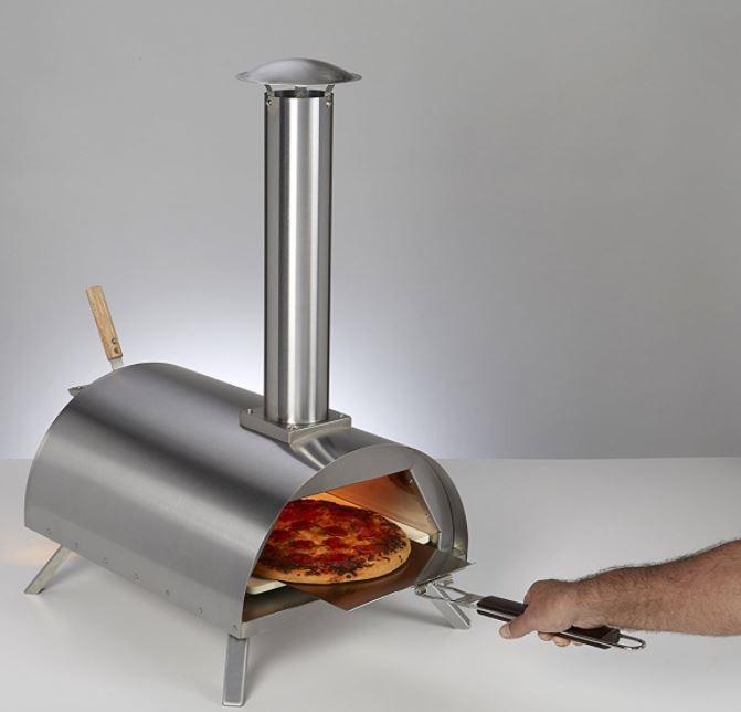 DaDa Edelstahl Outdoor Pizzaofen mit Pizzastein, Flammkuchenofen Bild 3