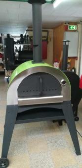 Flammkuchenofen, Pizzaofen, Brotbackofen Ciao II Grün Bild 1