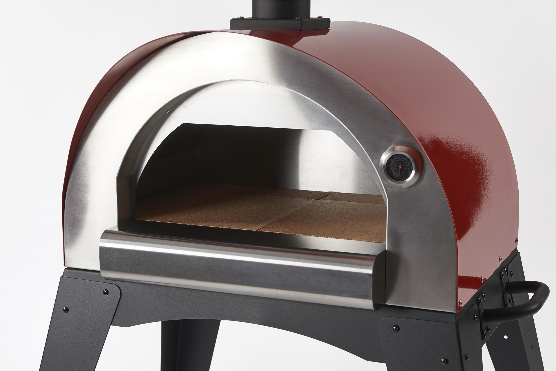 Flammkuchenofen, Pizzaofen, Brotbackofen Ciao II Rot Bild 2