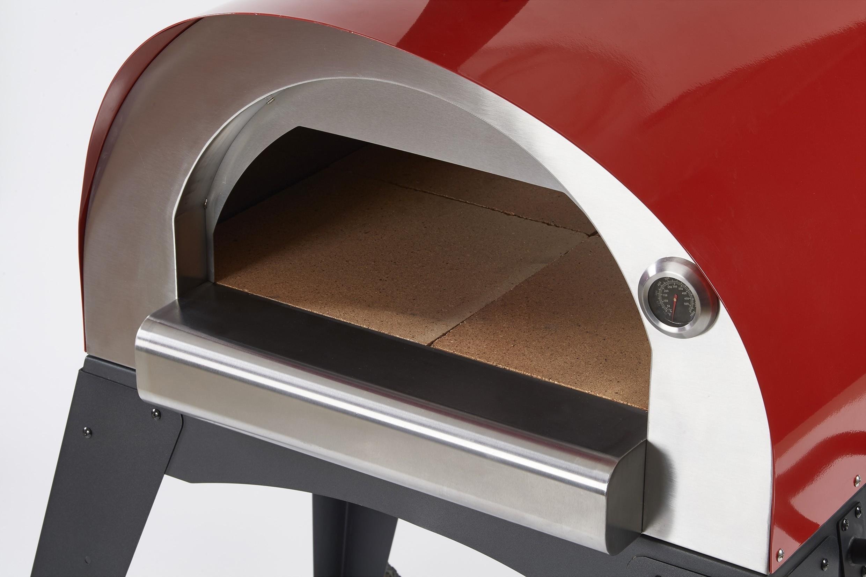 Flammkuchenofen, Pizzaofen, Brotbackofen Ciao II Rot Bild 3