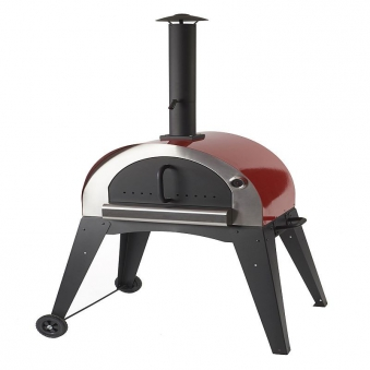 Flammkuchenofen, Pizzaofen, Brotbackofen Ciao II rot Bild 1