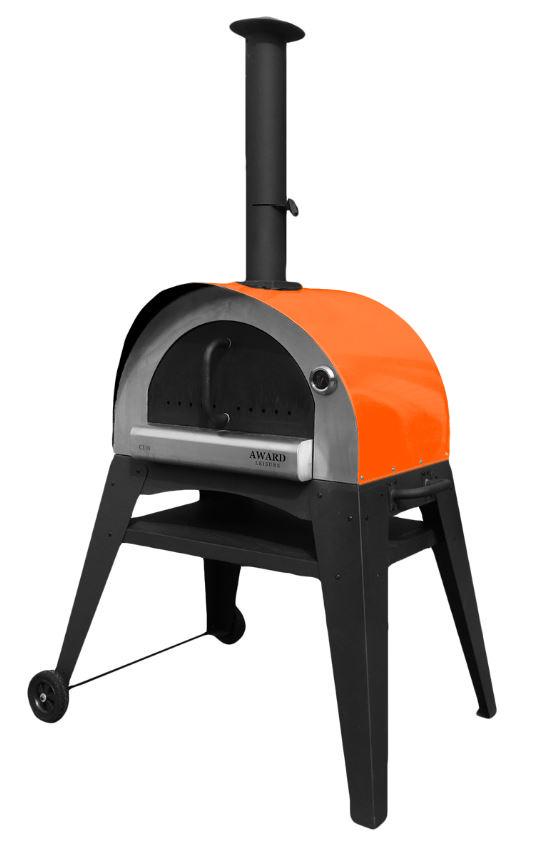 Holzbackofen, Pizzaofen, Brotbackofen Alpha-Ciao orange Bild 1