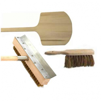 Holzschieber / Reinigungsbürste / Handfeger Holzbackofen Zubehör-Set