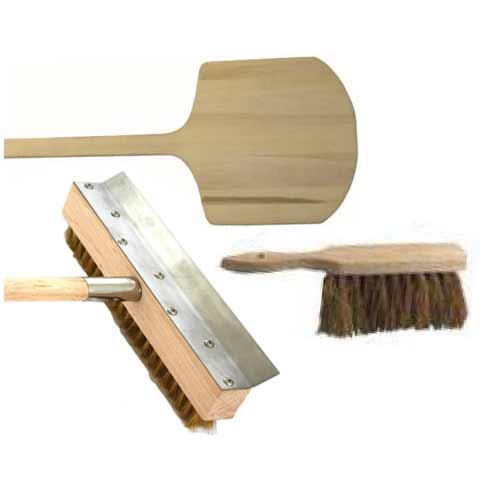 Holzschieber / Reinigungsbürste / Handfeger Holzbackofen Zubehör-Set Bild 1