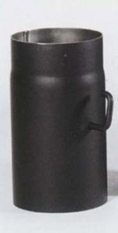 Ofenrohr mit Drosselklappe Senotherm schwarz Ø 120 mm Länge 250 mm Bild 2