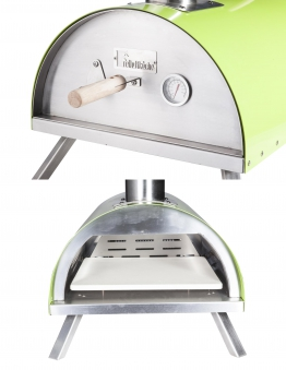 Pellet-Pizzaofen, Flammkuchenofen DaDa I grün Bild 3