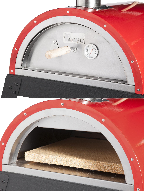Pellet-Pizzaofen, Flammkuchenofen DaDa II mit Gestell rot Bild 4