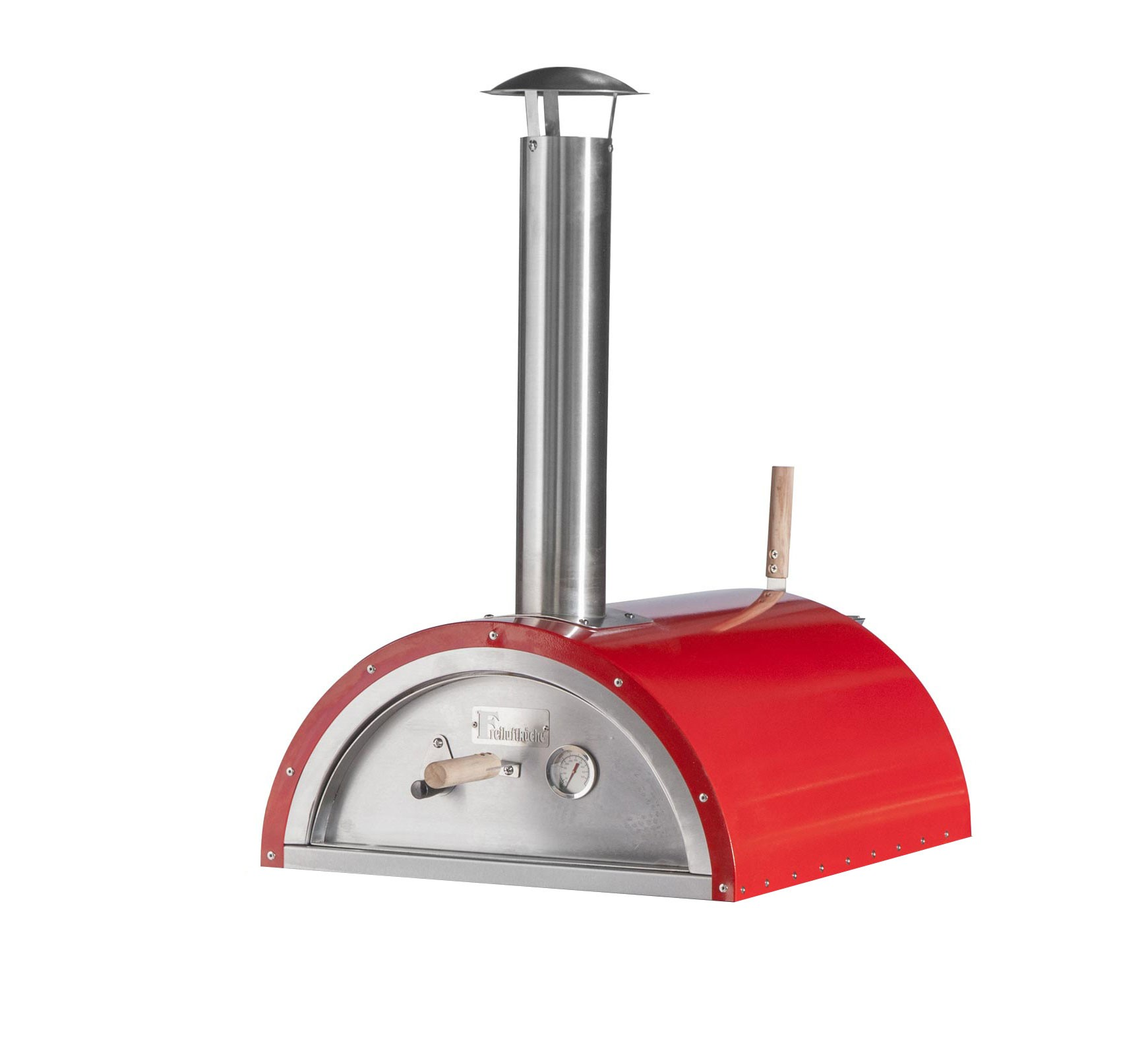 Pellet-Pizzaofen, Flammkuchenofen DaDa II rot Bild 1