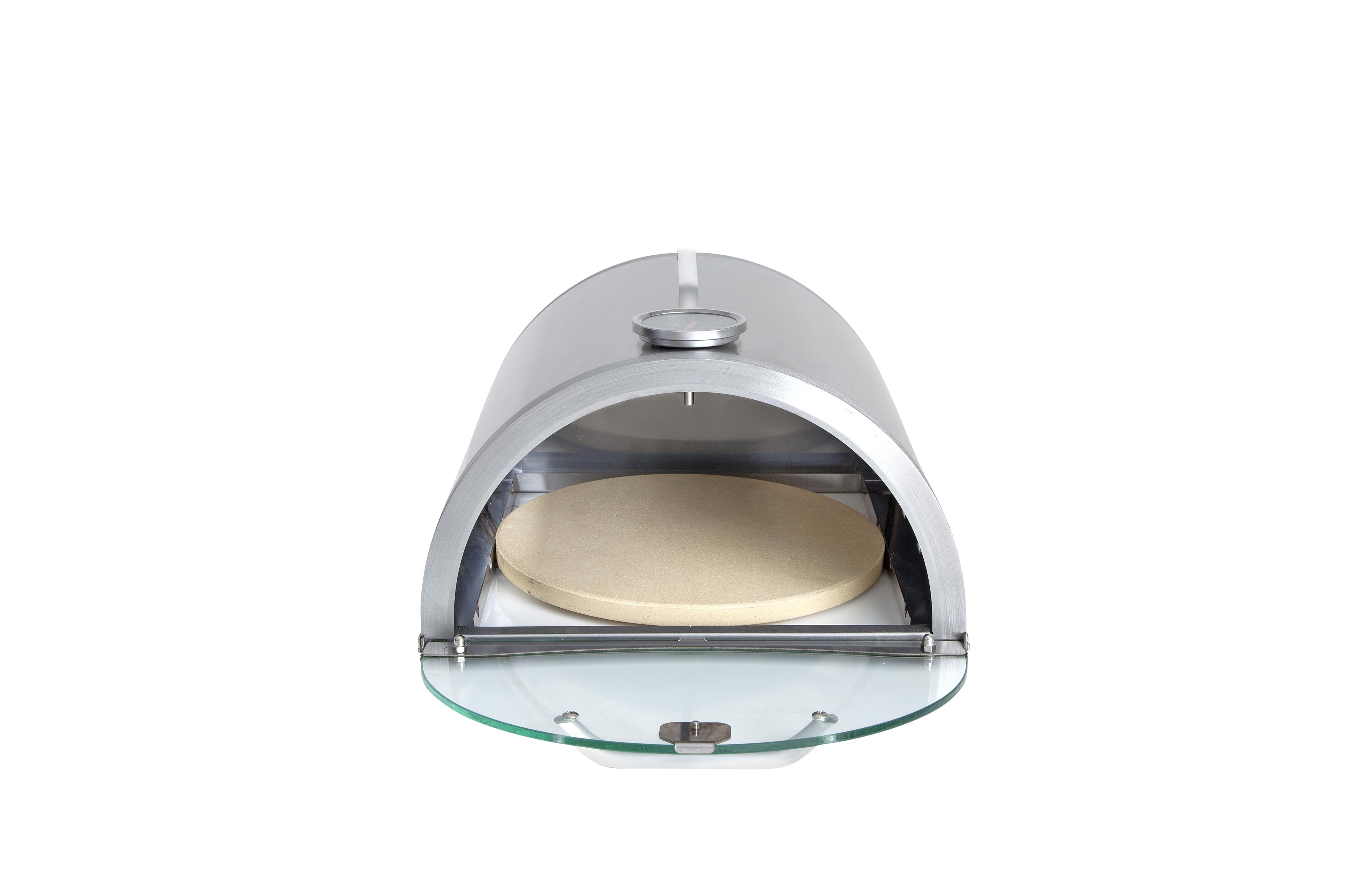 Pizzabox mit Pizzastein - Aufsatz für Gasgrill und Gasbrenner 35x32cm Bild 1