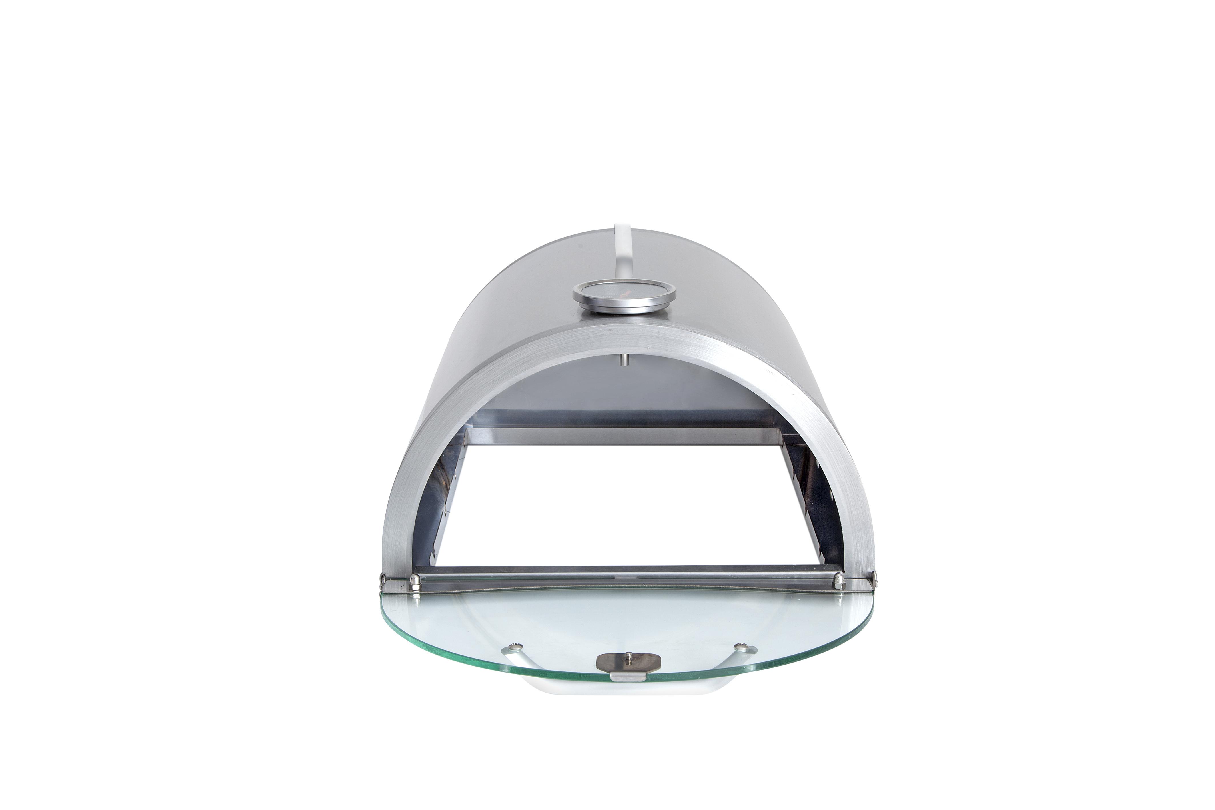 Pizzabox mit Pizzastein - Aufsatz für Gasgrill und Gasbrenner 35x32cm Bild 3