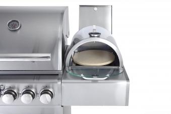 Pizzabox mit Pizzastein - Aufsatz für Gasgrill und Gasbrenner 35x32cm Bild 4