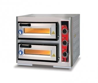 Pizzaofen CLASSIC PF 4040 DE3 400 V / 6 kW mit 2 Backkammern Bild 1