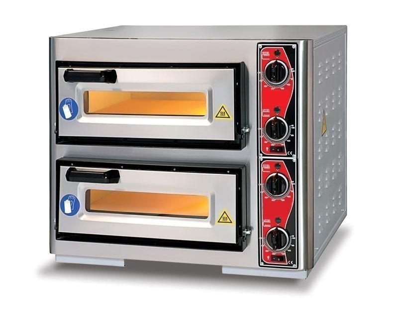 Pizzaofen CLASSIC PF 4040 DE4 400 V / 7 kW mit 2 Backkammern Bild 1