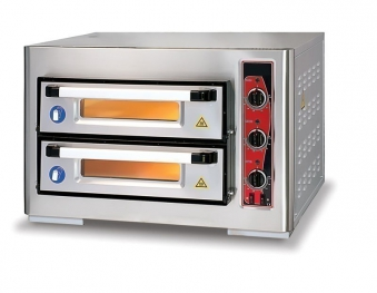 Pizzaofen CLASSIC PF 5050 DE3 400 V / 6 kW mit 2 Backkammern Bild 1