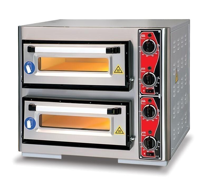 Pizzaofen CLASSIC PF 5050 DE4 400 V / 8 kW mit 2 Backkammern Bild 1