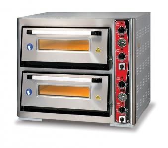 Pizzaofen CLASSIC PF 6262 DE-T 400 V / 10 kW m. 2 Backkammern & Thermo Bild 1