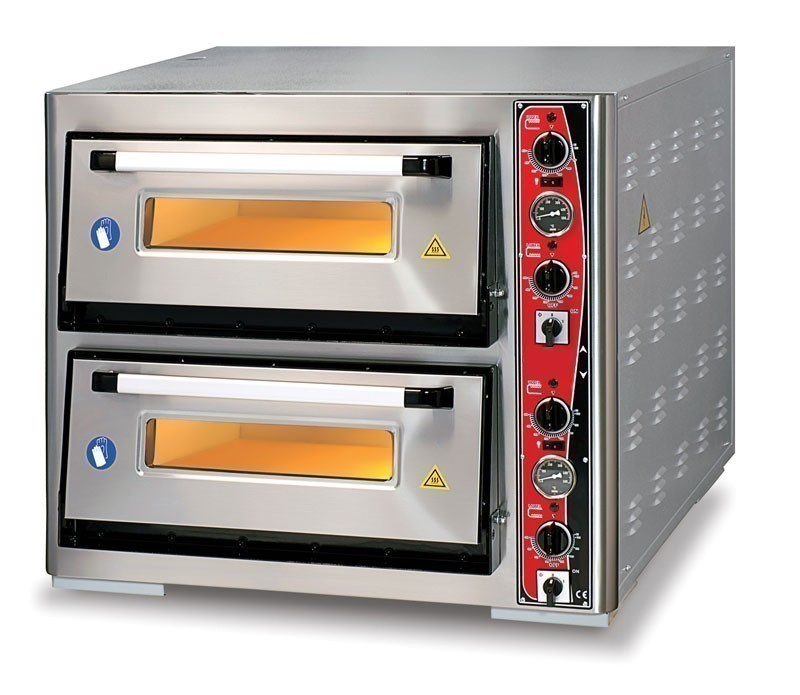 Pizzaofen CLASSIC PF 6292 DE-T 400 V / 12 kW m. 2 Backkammern & Thermo Bild 1