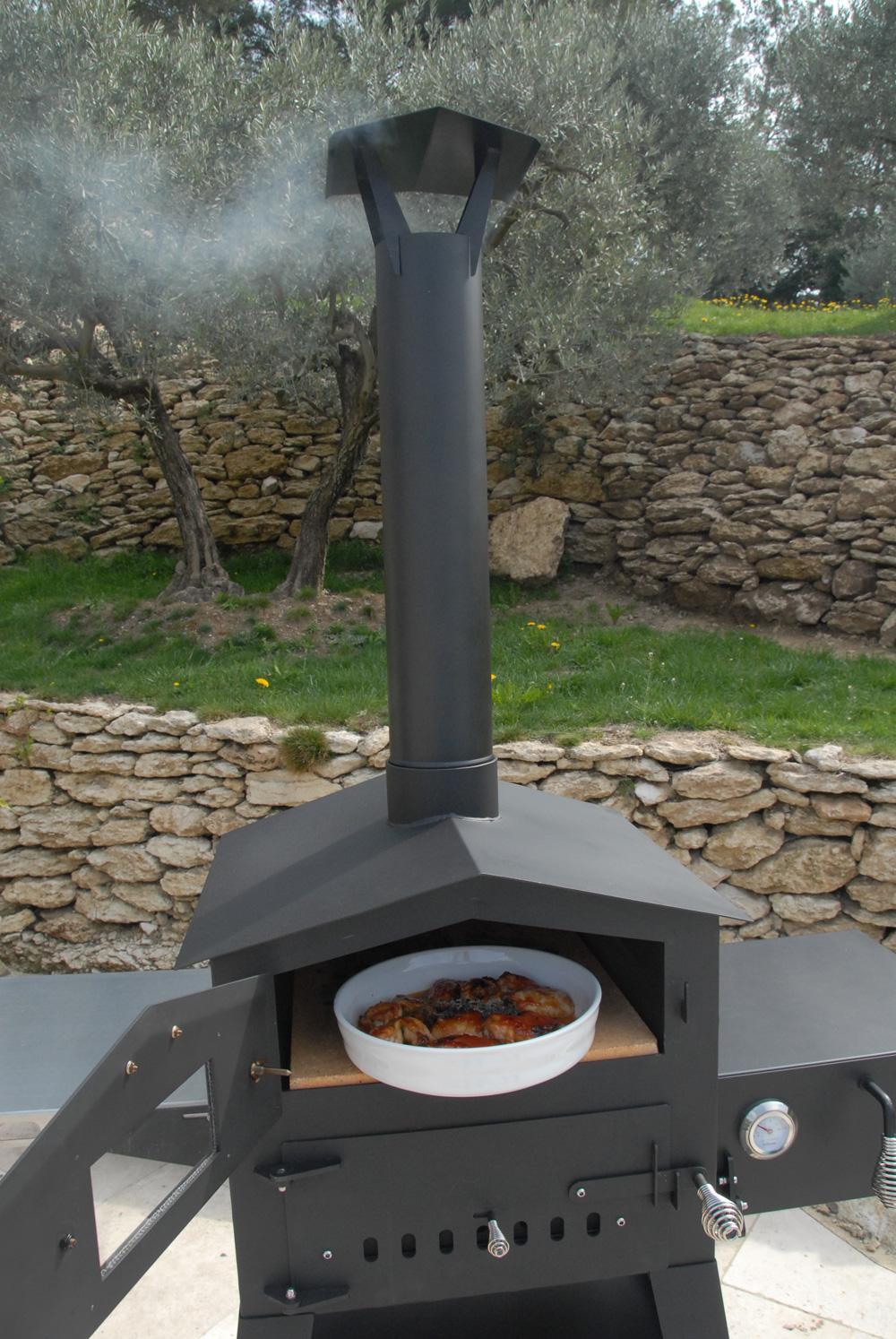 Pizzaofen / Holzbackofen Vulcano 2 ohne Warmhaltebox und Tablett Bild 5