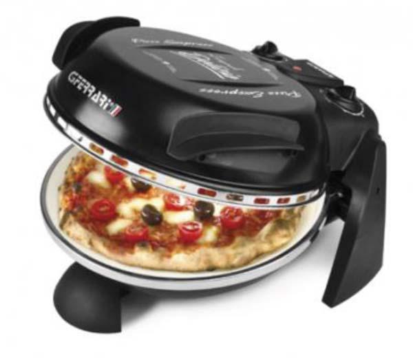 Pizzaofen / Pizzamaker Delizia elektrisch 1200 W Ø31cm schwarz Bild 1