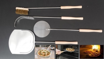 Pizzaset Flammkuchenset Brotbackset Holzbackofenset 4 Teile Bild 1