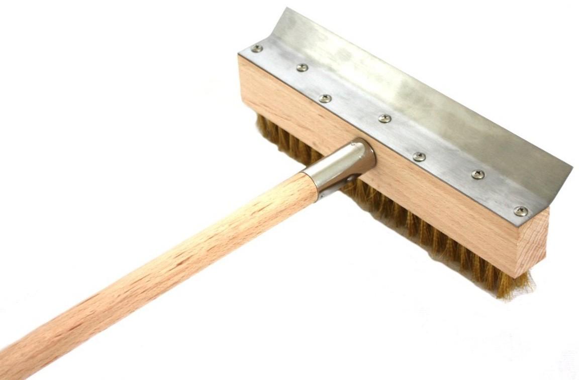 Reinigungsbürste mit Schaber 101,5cm für Holzbackofen Bild 1