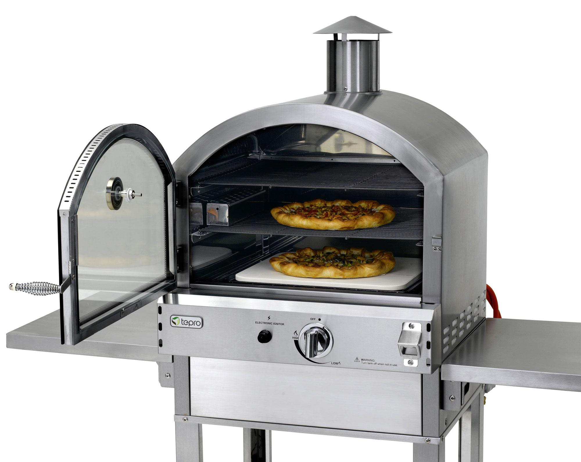 tepro pizzaofen gas gas pizzaofen flammkuchenofen