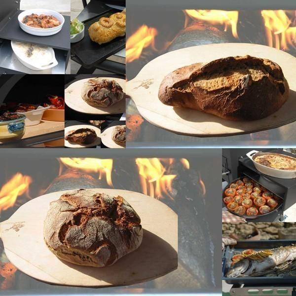 Vulcano V1 Flammkuchenofen, Pizzaofen inkl. Rauchrohr und Untergestell Bild 3