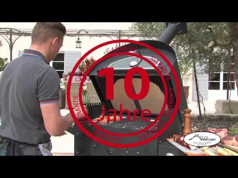 Vulcano V1 Flammkuchenofen, Pizzaofen inkl. Rauchrohr und Untergestell Video Screenshot 2211
