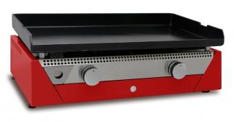SIMOGAS Gasgrill Stahl-Plancha 70 Rainbow Metall 70x40cm rot Bild 1