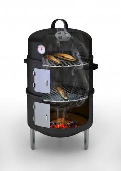Räucherofen / Smoker barbecook Ø43,7cm H82cm schwarz Bild 2