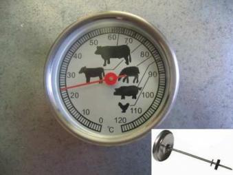 Räucherthermometer / Thermometer Euro Windkat Bild 1