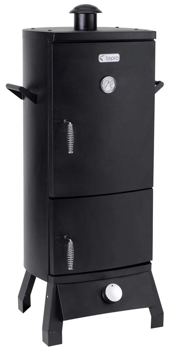 Tepro Gas Räucherofen / Räucherschrank Lockport 46x42x104cm schwarz Bild 1