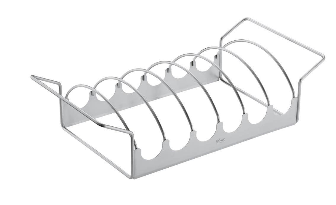 Bratenhalter / Rippchenhalter Rösle BBQ Edelstahl 43,3x11x21,2 cm Bild 1