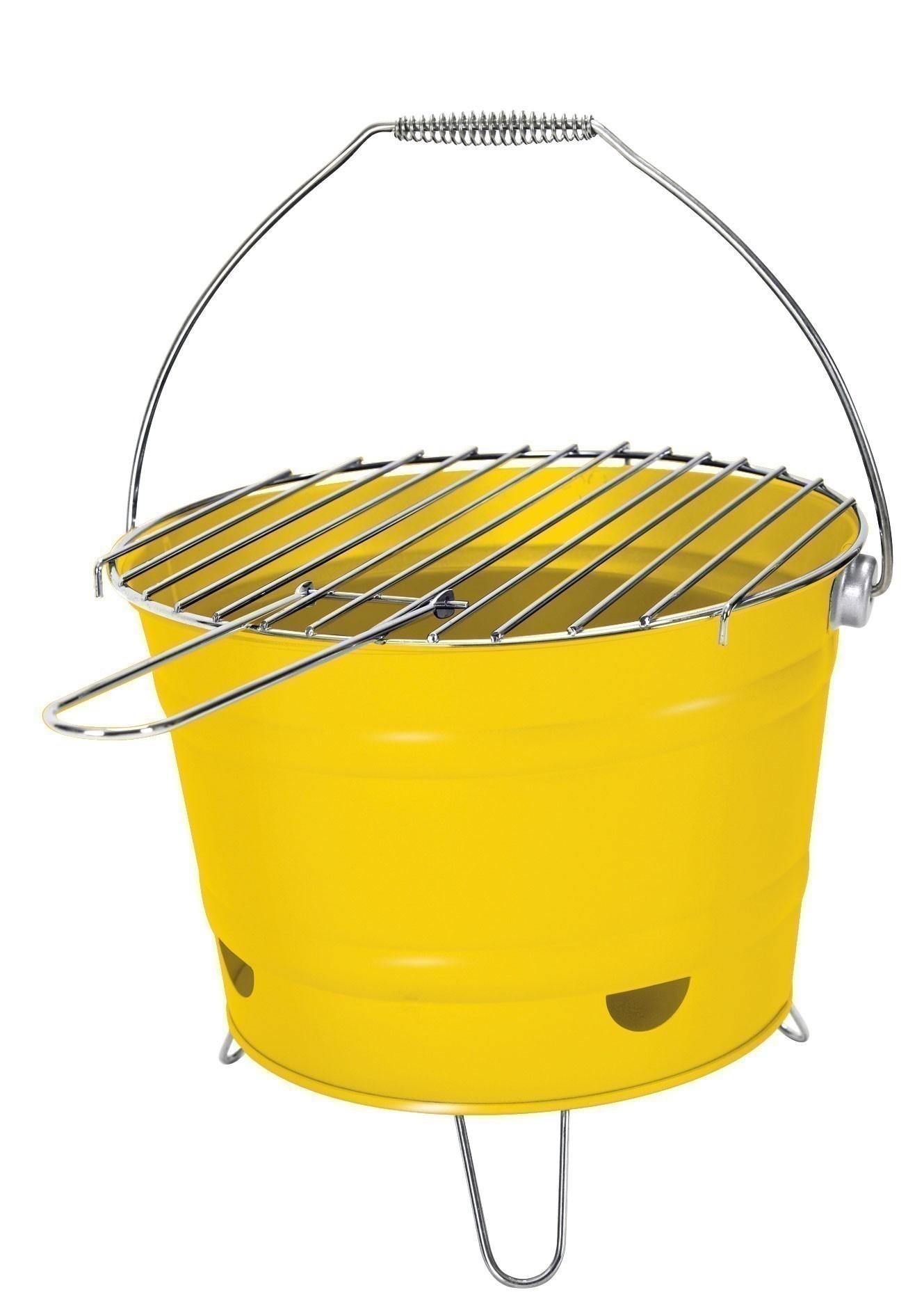 Holzkohlegrill / Grilleimer Arlington gelb Ø 27 cm Bild 1