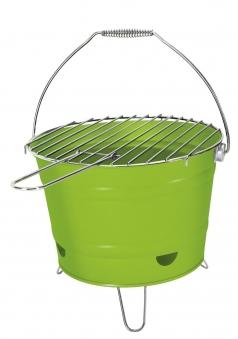 Holzkohlegrill / Grilleimer Arlington grün Ø 27 cm Bild 1