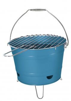 Holzkohlegrill / Grilleimer Arlington blau Ø 27 cm Bild 1