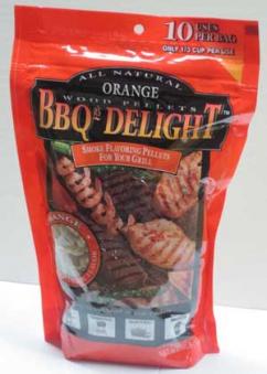 BBQr's-Delight Smoking Pellets - Orange Pellets 450g Bild 1