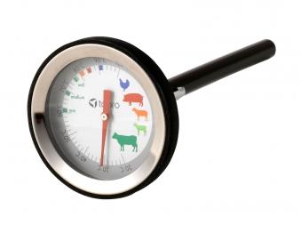 Grillthermometer / Bratenthermometer Tepro Edelstahl / schwarz Bild 1