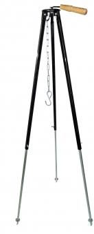 Dreibein Gestell Teleskop 100 - 180 cm schwarz lackiert Bild 1