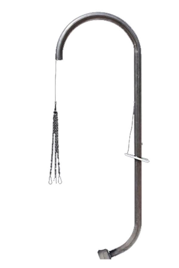 Grillgalgen Eisen für Feuerschale Eisen 55-75cm Bild 1
