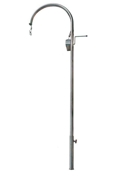 Grillgalgen Modell Rondo Höhe 150cm Edelstahl Bild 1