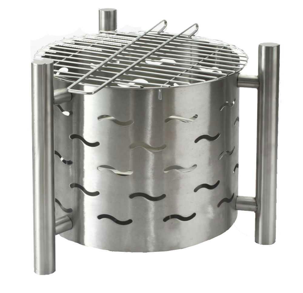 feuerstelle feuerkorb silverado mit grill 40 cm bei. Black Bedroom Furniture Sets. Home Design Ideas