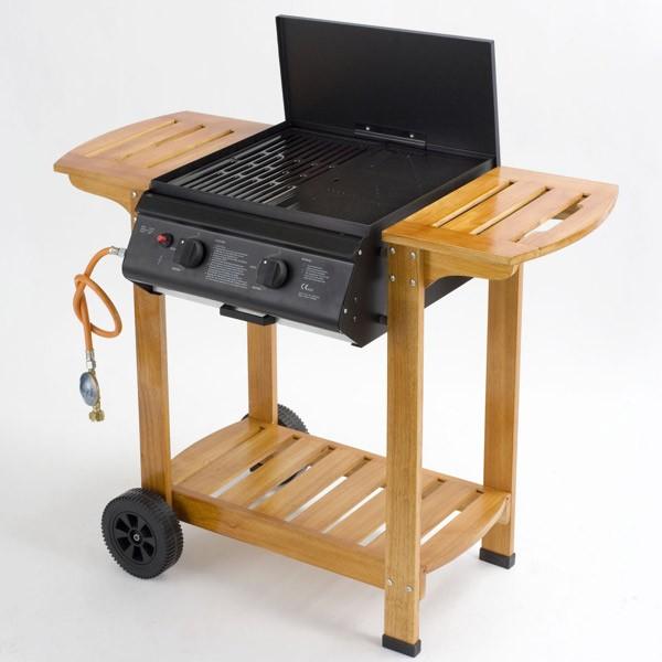 gasgrill grillwagen pittsburgh fahrbar grillfl che 42x46cm holzwagen bei. Black Bedroom Furniture Sets. Home Design Ideas