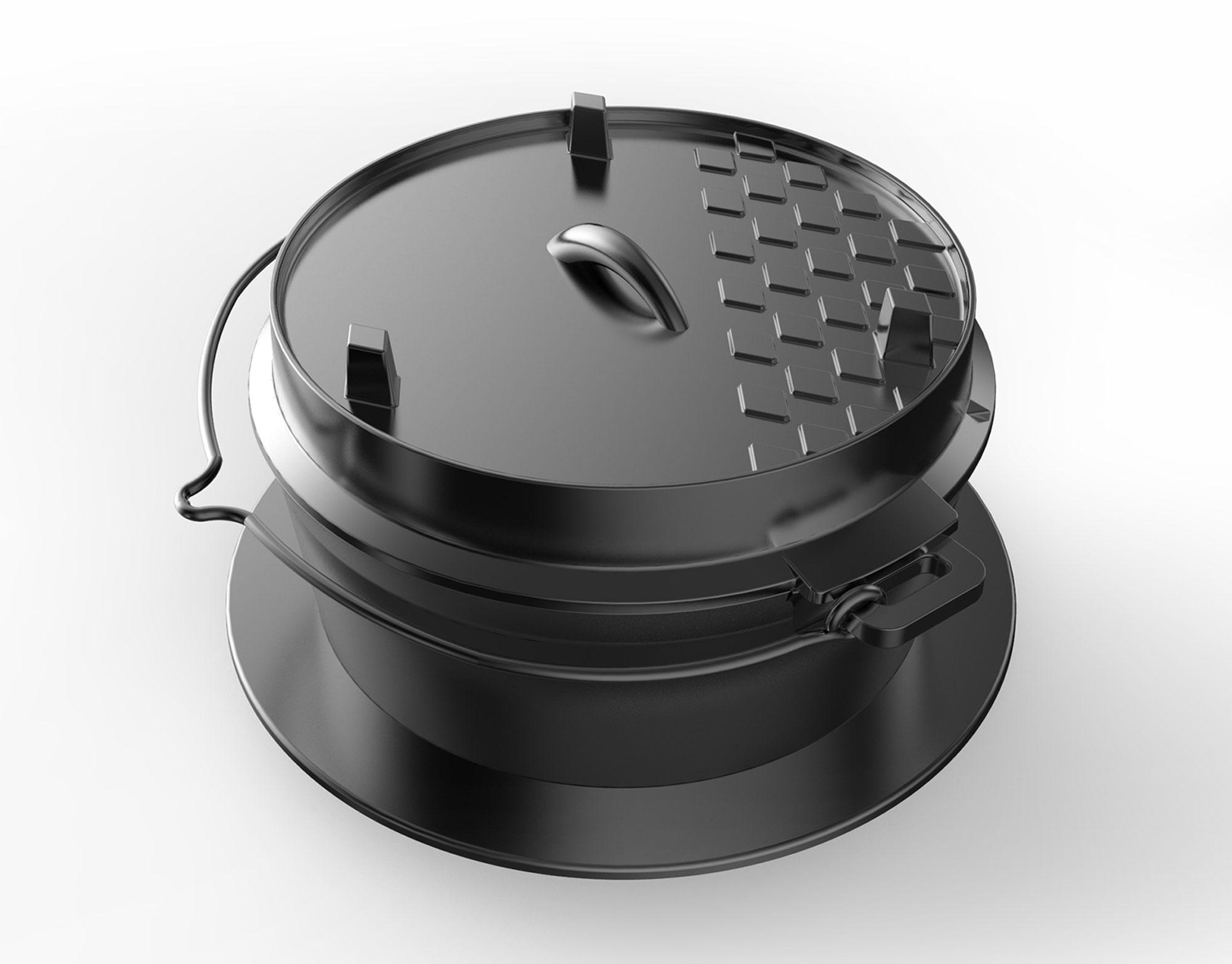 dutch oven einsatz tepro gusseisen schwarz 6 liter bei. Black Bedroom Furniture Sets. Home Design Ideas
