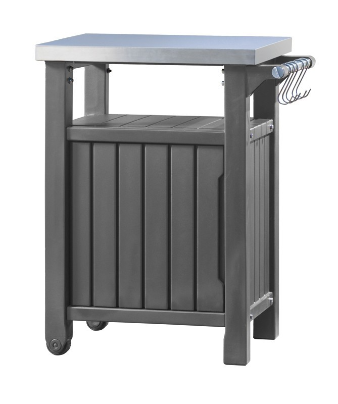 keter beistelltisch grilltisch 1 t rig graphit. Black Bedroom Furniture Sets. Home Design Ideas