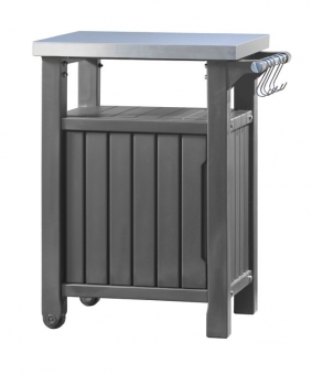 keter beistelltisch grilltisch 1 t rig graphit 70x54x90cm bei. Black Bedroom Furniture Sets. Home Design Ideas
