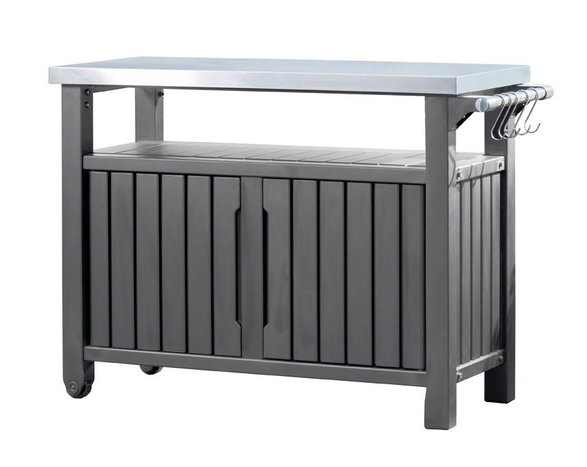 tepro beistelltisch grilltisch 2 t rig graphit. Black Bedroom Furniture Sets. Home Design Ideas