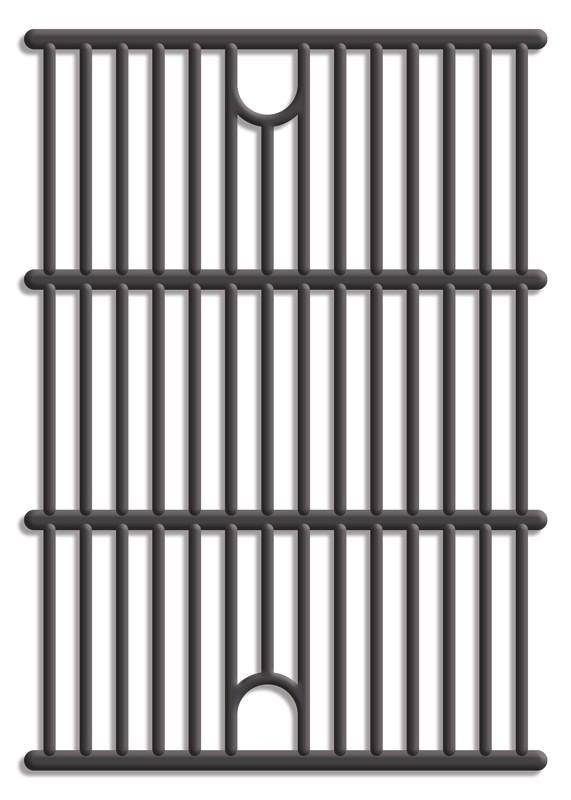 Tepro Universal Guss-Grillrost-Set Grillfläche 2x 29 x 40 cm Bild 1