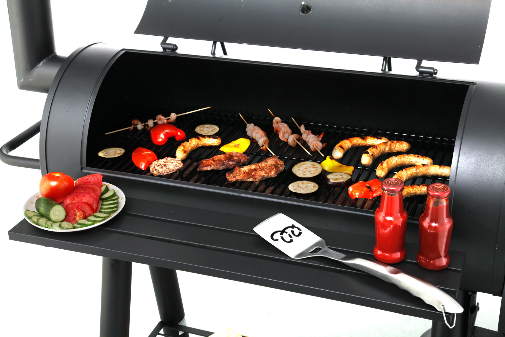 barbeque smoker holzkohlegrill tepro milwaukee bei. Black Bedroom Furniture Sets. Home Design Ideas