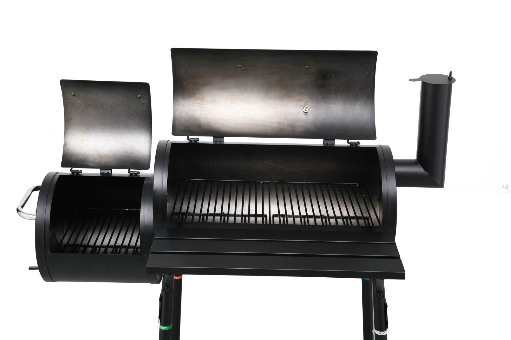 bbq smoker holzkohlegrill tepro wichita grillfl che 60 x 26 5 cm bei. Black Bedroom Furniture Sets. Home Design Ideas